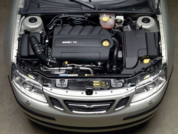 The Saab 9-3 Sport Sedan Engine